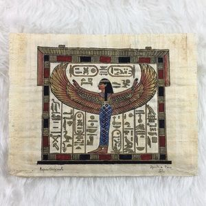 Egyptian authentic hand painted ancient papyrus